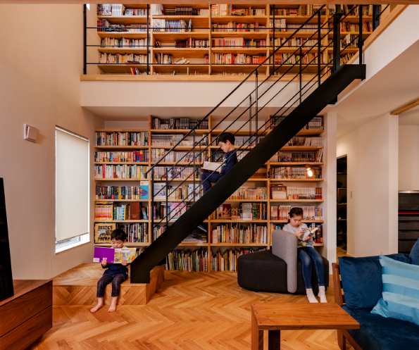 Living~Library Stairs